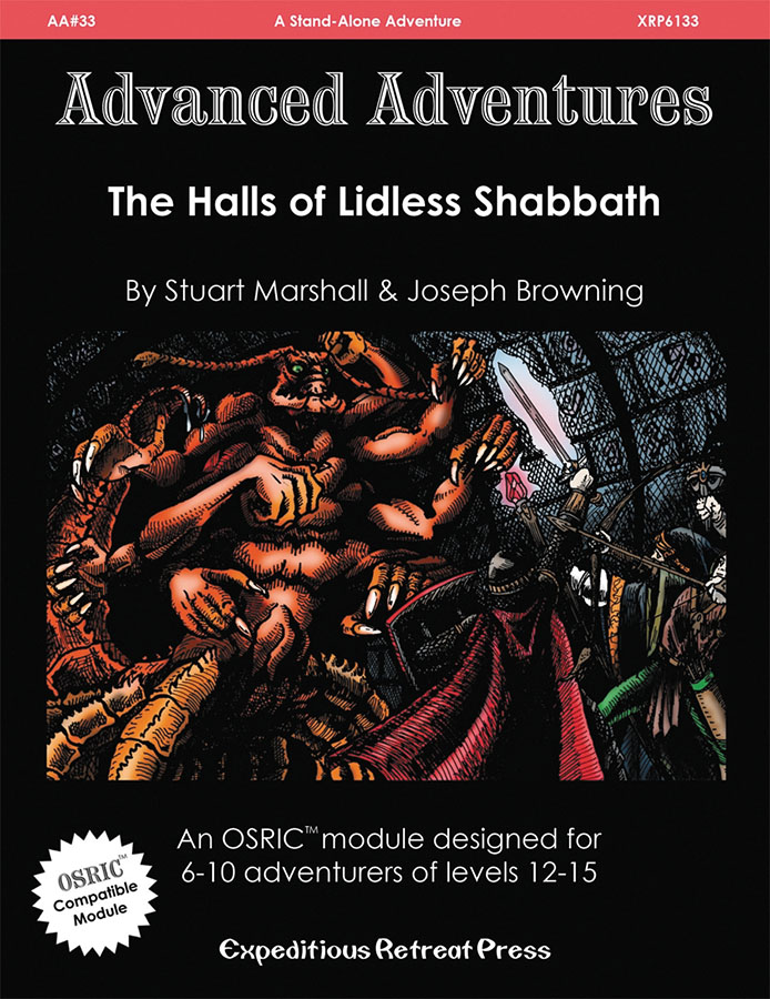Advanced Adventures #33: The Halls Of Lidless Shabbath Box Front