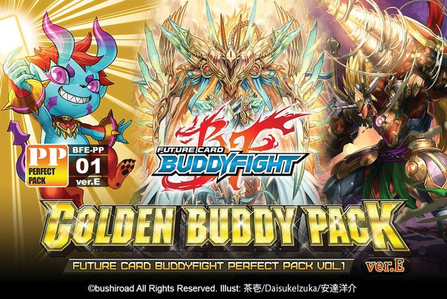 Future Card Buddyfight Tcg: Golden Buddy Pack Ver. E Perfect Pack Display (10) Box Front