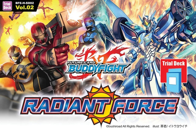 Future Card Buddyfight Tcg: Radiant Force New Series Trial Deck Display (6) Box Front