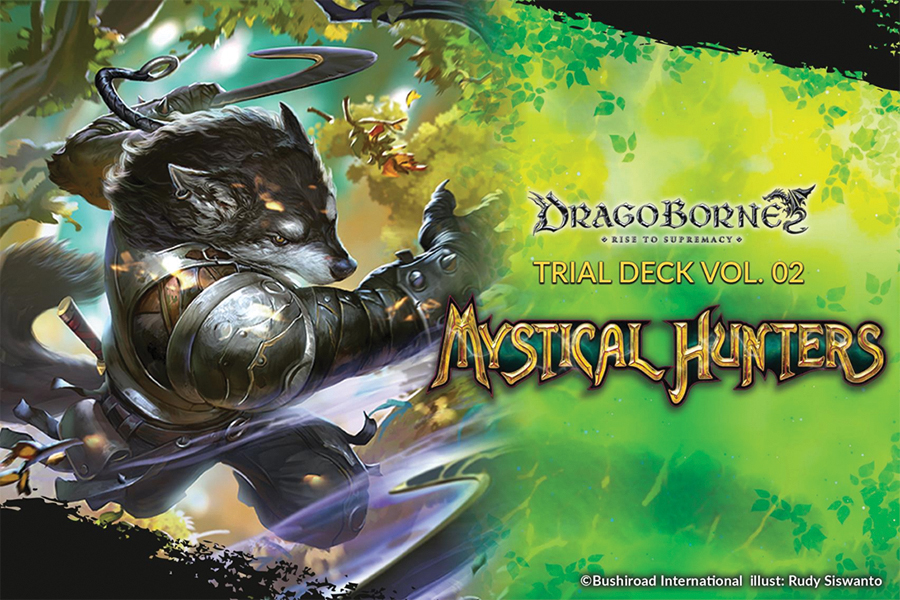 Dragoborne Tcg: Mystical Hunters Trial Deck Display(6) Box Front