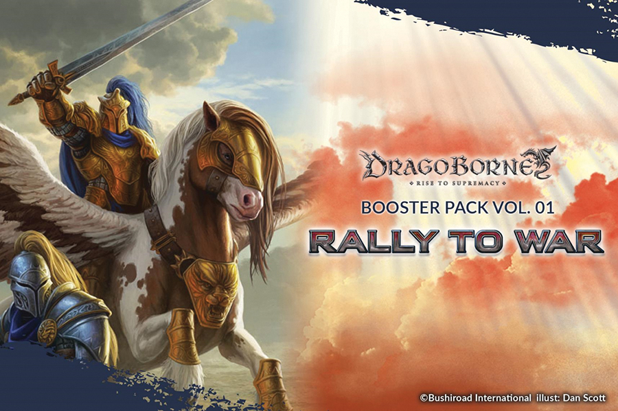 Dragoborne Tcg: Rally To War Booster Pack Display(20) Box Front