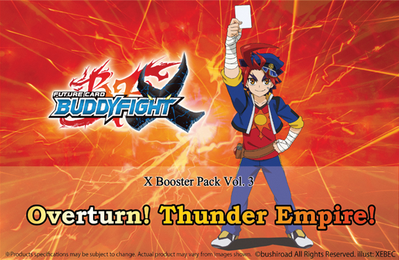 Future Card Buddyfight Tcg: Overturn Thunder Empire Volume 3 Booster Pack Display (30) Box Front
