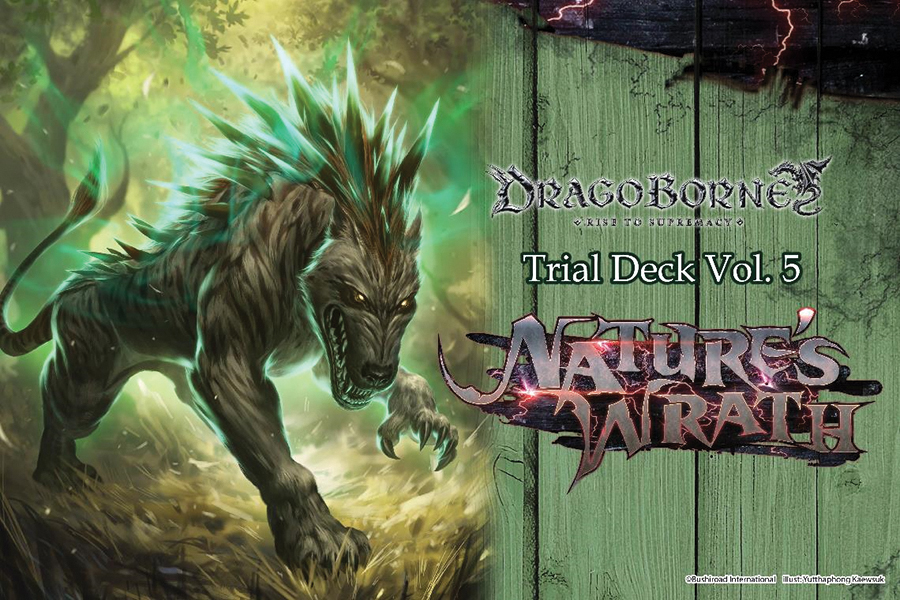 Dragoborne Tcg: Rise To Supremacy - Nature`s Wrath Trial Deck Display (6) Box Front