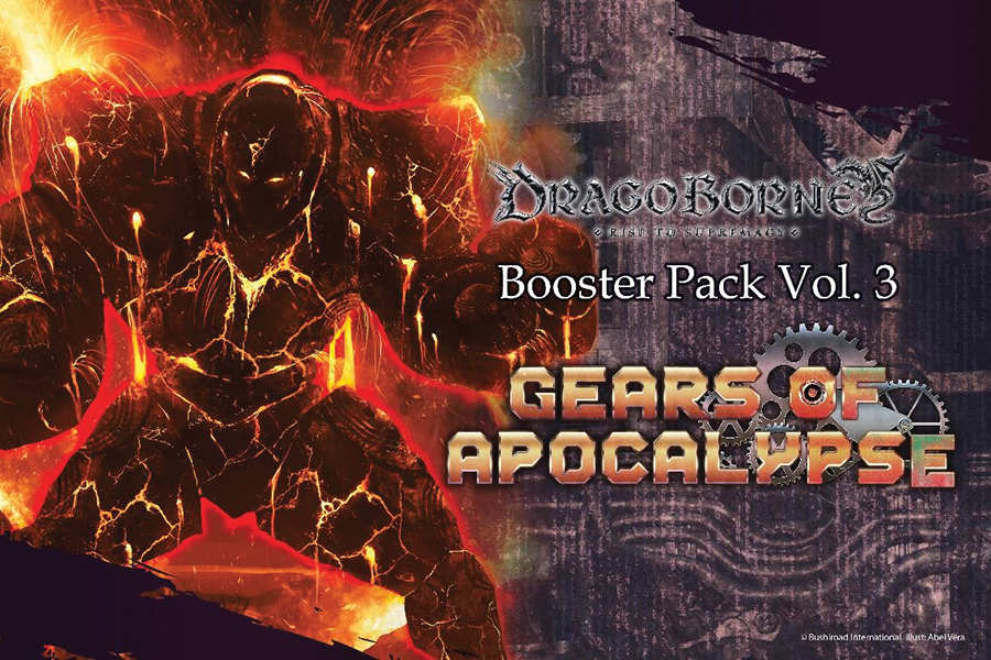 Dragoborne Tcg: Rise To Supremacy - Gears Of Apocalypse Booster Display (20) Box Front