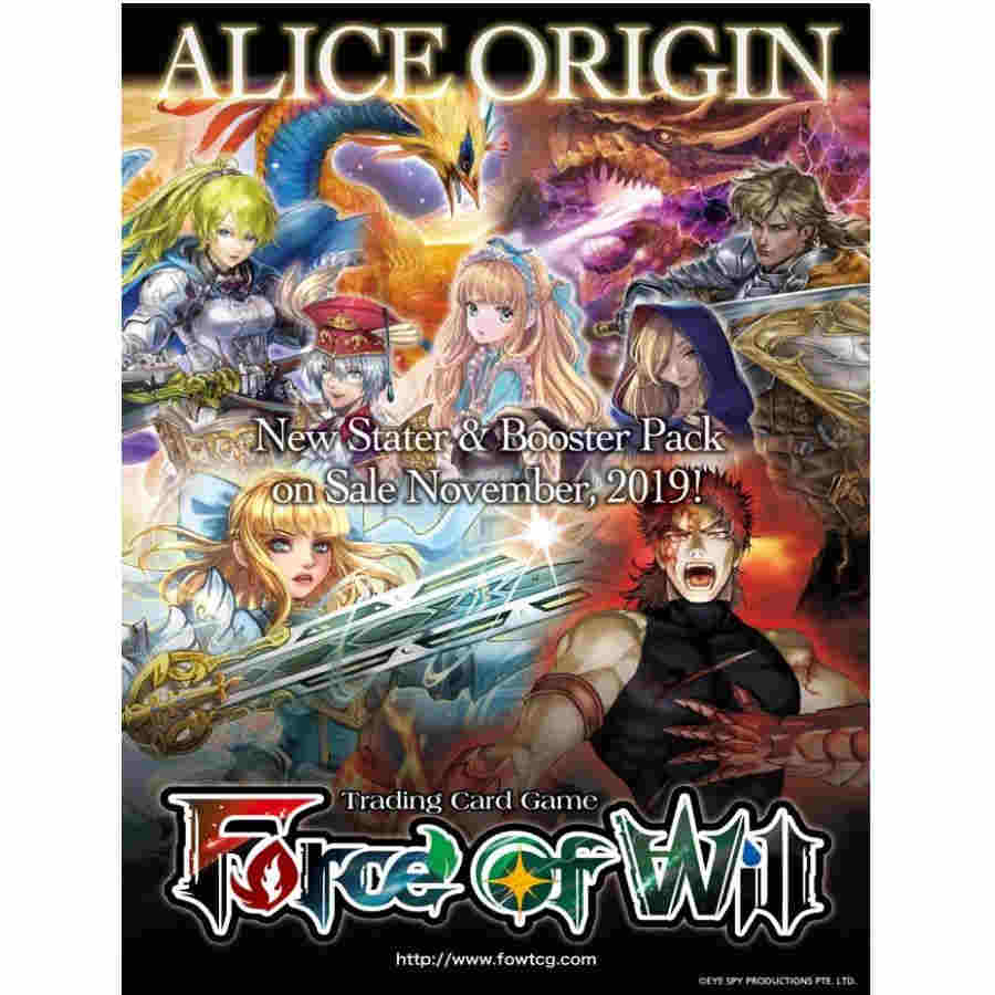 Force Of Will Tcg: Alice Origin 1st Booster Pack Display (20)