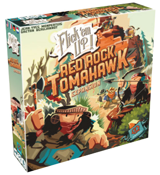 Flick Em Up! Red Rock Tomahawk Expansion Box Front