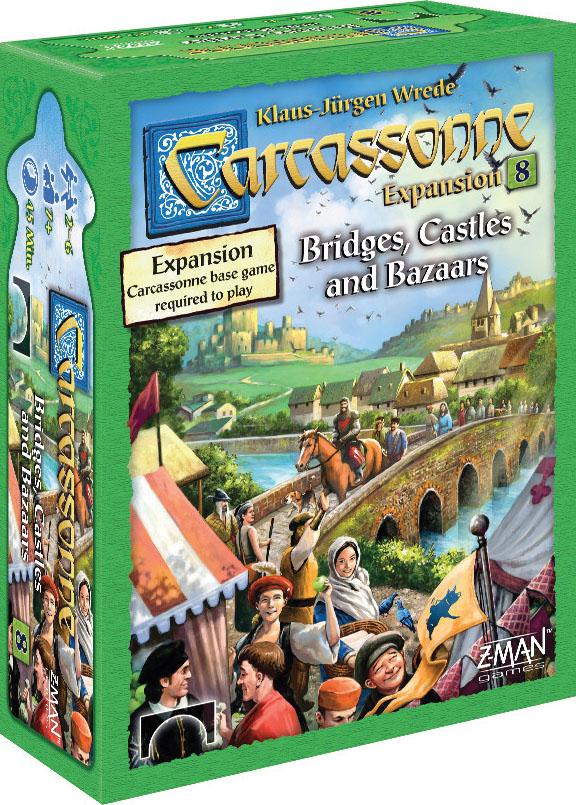 Carcassonne: Expansion 8 - Bridges Castles Bazaars Box Front