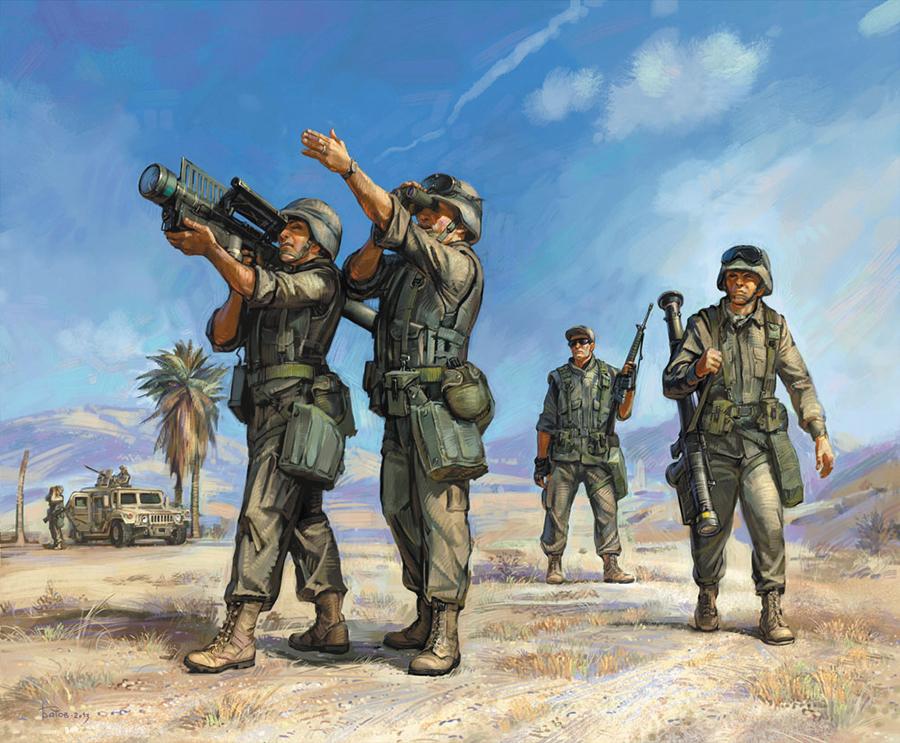 Hot War: American Stinger Sam Team Box Front